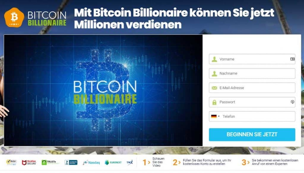 Bitcoin Billionaire Erfahrungen