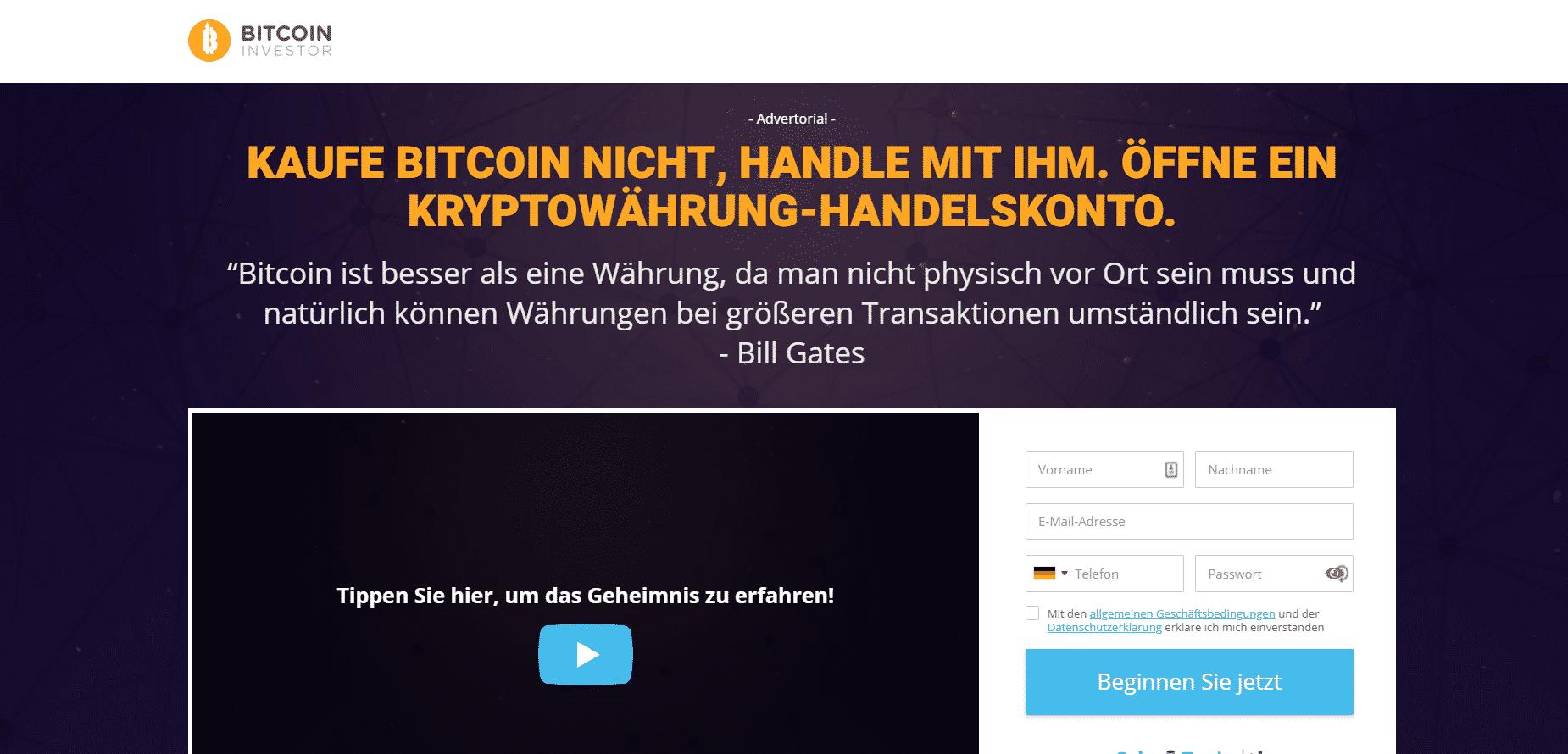Bitcoin investor Erfahrungen