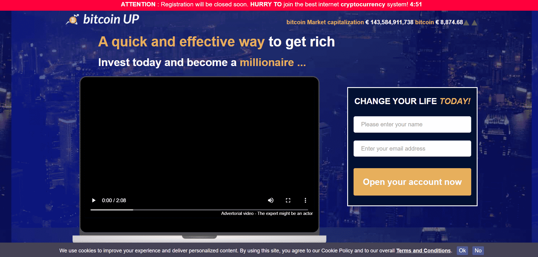 Bitcoin UP Review register