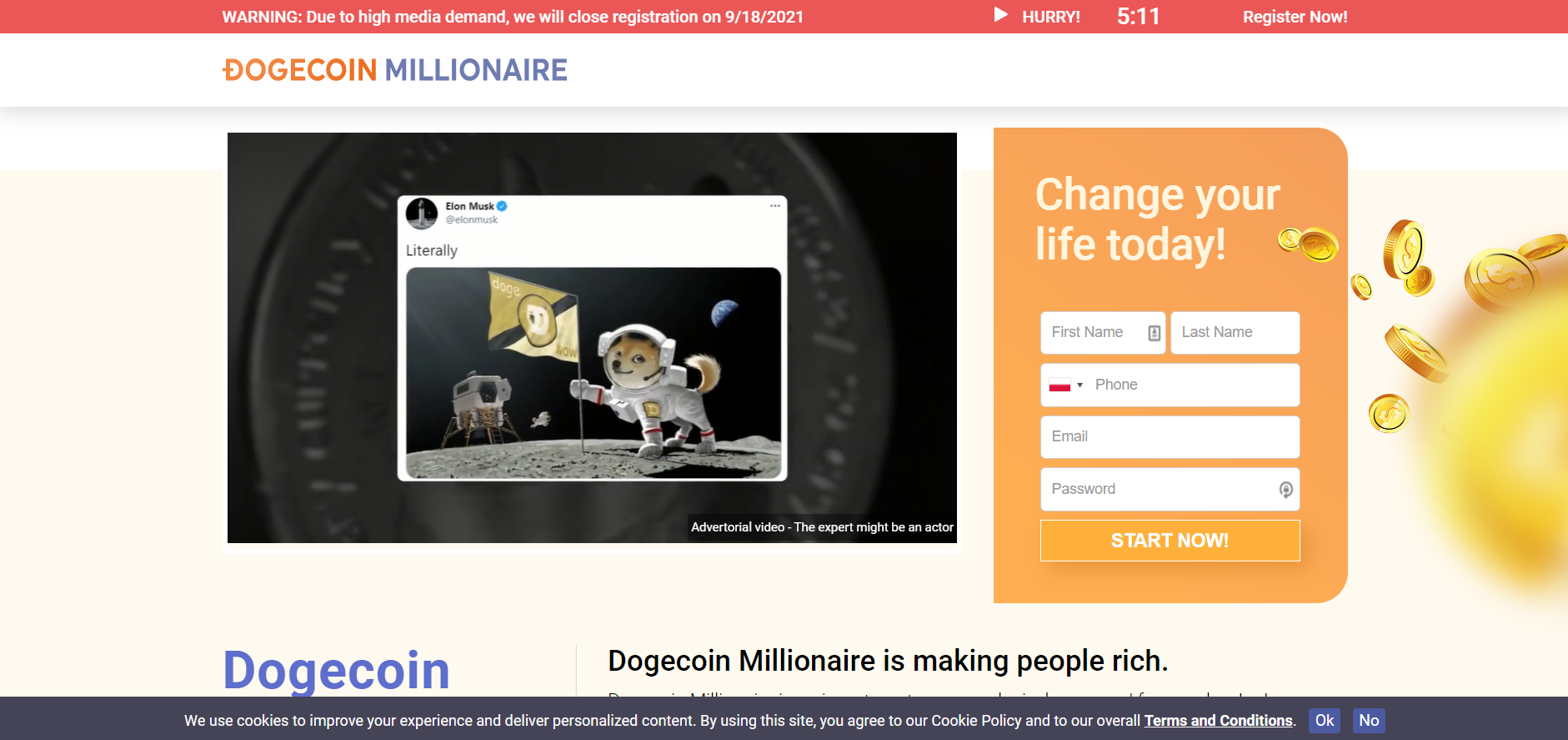 dogecoin millionaire review register